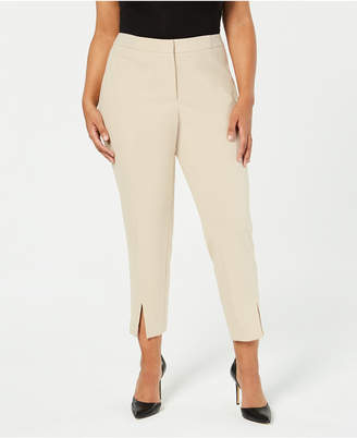Calvin Klein Plus Size Split-Hem Pants