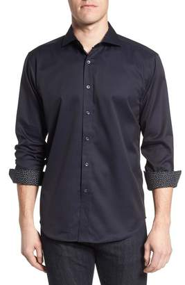 Bugatchi Shaped Fit Check Sport Shirt