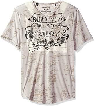 Buffalo David Bitton Men's Tible Short Sleeve Crewneck Graphic Fashion T-Shirt