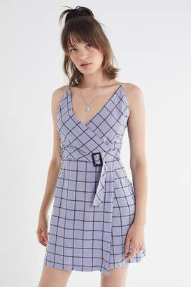 Urban Outfitters Amanda Linen Belted Wrap Dress