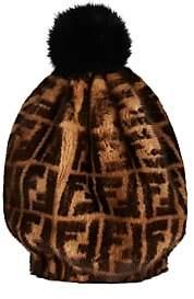 Fendi Women's Mink & Fox Fur Beanie - Brown