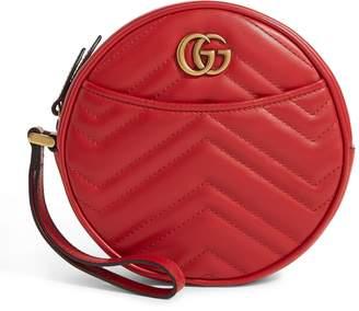 Gucci Leather Marmont Matelasse Wrist Wallet