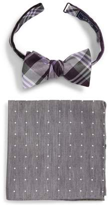 The Tie Bar Crystal Wave Bow Tie & Pocket Square Box Set