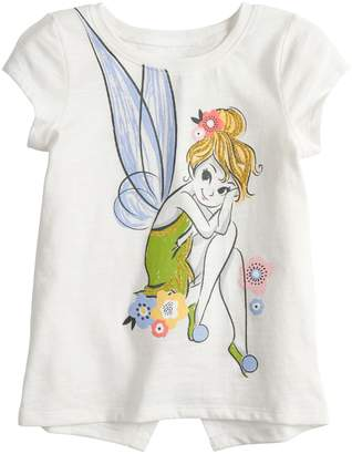 Disney's Tinkerbell Toddler Girl Glittery Graphic Tee by Jumping Beans