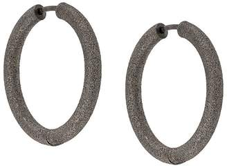 Carolina Bucci Florentine Finish small thick round hoop earrings
