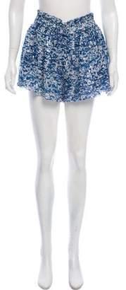 Etoile Isabel Marant High-Rise Silk Shorts