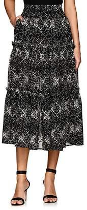 Co Women's Floral Wool Gauze Midi-Skirt