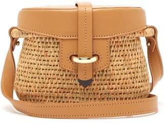 Khokho - Jabu Leather Trimmed Mini Basket Bag - Womens - Light Tan