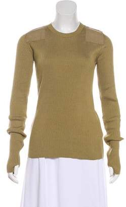 MM6 MAISON MARGIELA Rib Knit Crew Neck Sweater w/ Tags