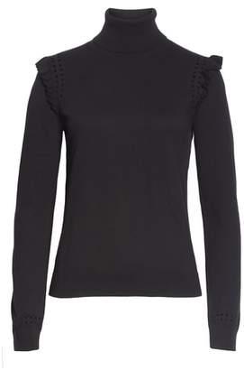 Kate Spade ruffle turtleneck sweater