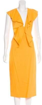 Cushnie et Ochs Butterfly Sleeveless Midi Dress w/ Tags