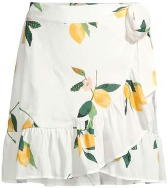 Rails Etienne Lemon Wrap Skirt