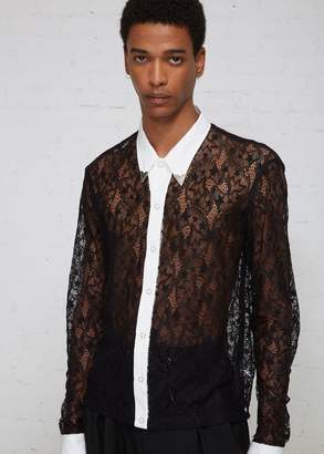 TAKAHIROMIYASHITA The Soloist Lace Fringe Sleeve Shirt