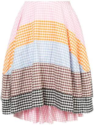 Comme des Garcons Pre-Owned checkered patchwork skirt