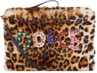 Dolce & Gabbana Cleo Leopard Faux Fur Clutch