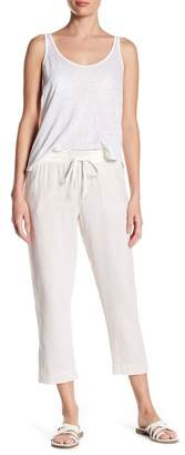 Susina Yarn Drawstring Linen Blend Pants (Regular & Petite)