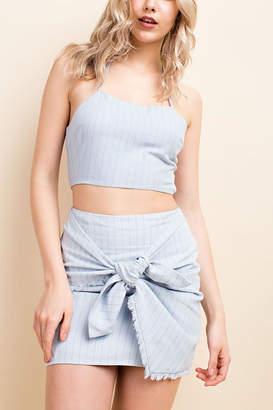 Wild Honey Stripe Wrap Skirt