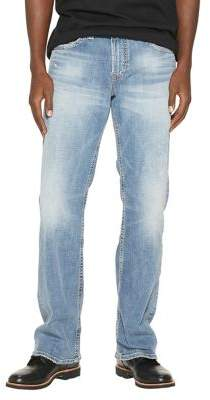 Silver Jeans Zac Faded Straight-Leg Jeans