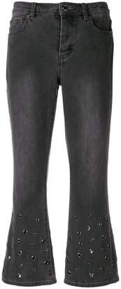 MICHAEL Michael Kors stud detailed crop trousers