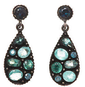 Yossi Harari Sara Mosaic Tourmaline & Diamond Earrings
