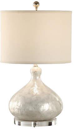 Capiz Shell Table Lamp - Polished White - Wildwood