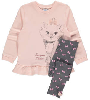 CAT George Disney The Aristocats Marie Sweatshirt and Leggings Outfit