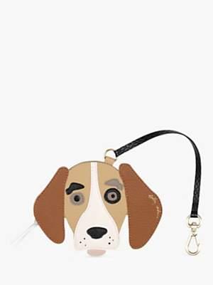 Radley & Friends Leather Beagle Bag Charm, Tan