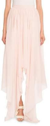 DELPOZO Silk Georgette Asymmetric Skirt