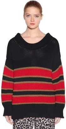 N°21 Oversized Stripe Cotton Intarsia Sweater