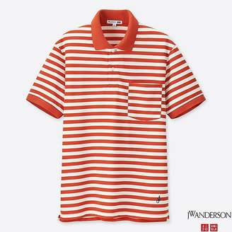 Uniqlo Men's Jwa Dry-ex Striped Short-sleeve Polo Shirt