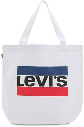 Levi's Logo Cotton Canvas Tote