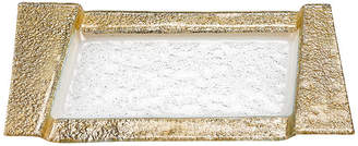 Badash Crystal Rimini Gold Serving Tray