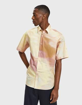 Cmmn Swdn Diedrik Short Sleeve Shirt in Digital Print