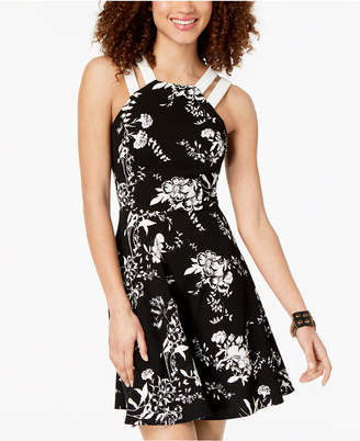 B. Darlin Juniors' Printed Double-Strap Dress