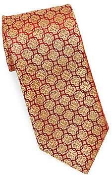 Charvet Men's Medallion Rings Silk Tie