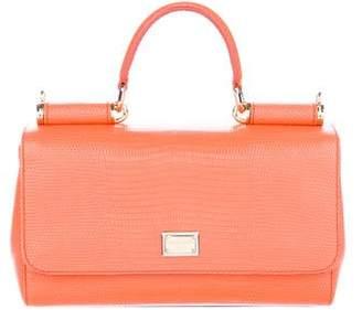 Dolce & Gabbana Mini Embossed Miss Sicily Bag