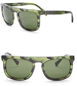 Dolce & Gabbana 53mm Rectangle Sunglasses
