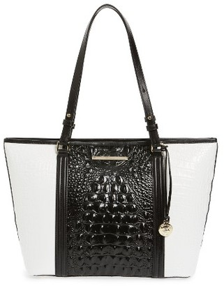 Brahmin Medium Crane Asher Leather Tote - Black $295 thestylecure.com
