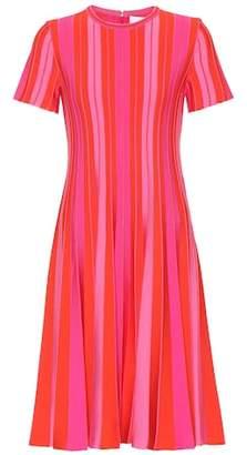 Carolina Herrera Pleated striped dress