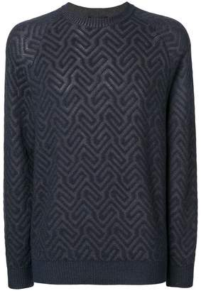 Giorgio Armani geometric patterned jumper