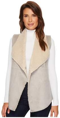 True Grit Dylan by Velvet Suede Faux Fur Reversible Snap Vest Women's Vest