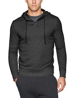 Van Heusen Men's Slim Fit Never Tuck Sweater Fleece Solid Hoodie Pullover
