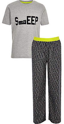 River Island Boys grey 'Sleep' pajama set