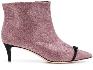 Marco De Vincenzo boots with rhinestones and bow