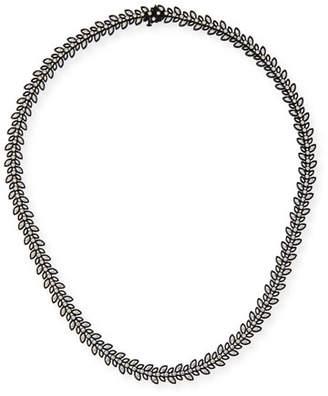 Jack Kelege & Company Black Rhodium Vine Necklace with Diamonds