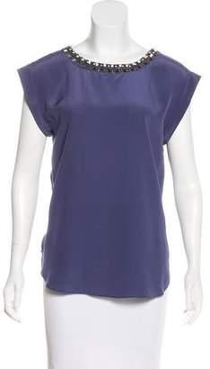 Rebecca Taylor Silk Embellished Top