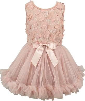 Popatu Floral Applique Lace Tutu Dress