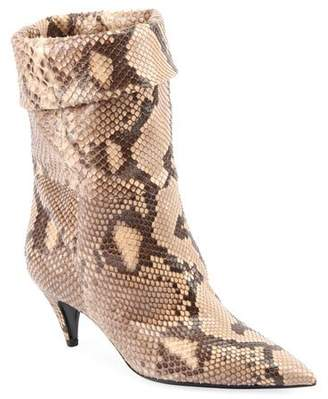 Saint Laurent Charlotte Python Pointed Booties