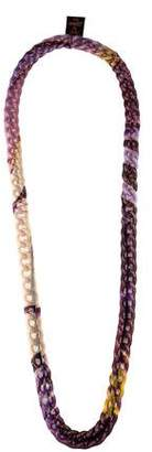 Jean Paul Gaultier Soleil Multicolor Mesh Chain Necklace