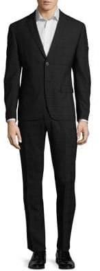 Calvin Klein Windowpane Plaid Suit